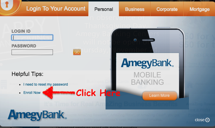 amegy bank online registration