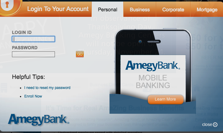 Amegy Bank Online