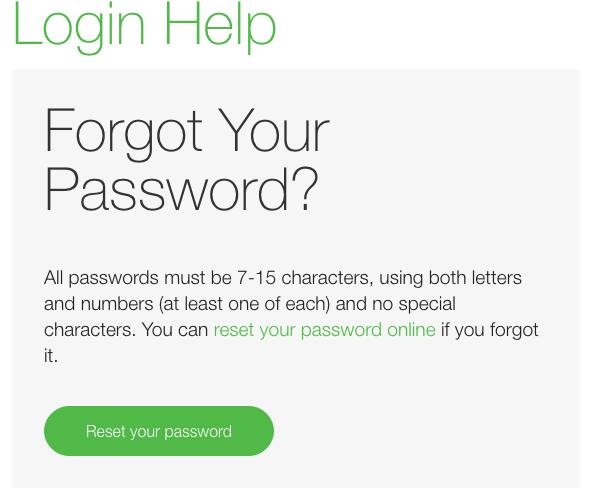 TD Ameritrade login password