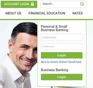 Axiom Bank login