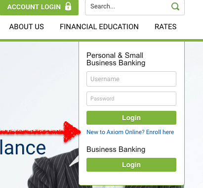 Axiom online banking
