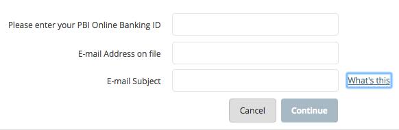 PBI bank online banking login
