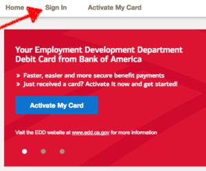 bofa edd debit card sign in