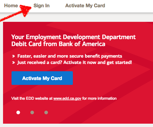 bofa edd debit card sign in
