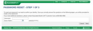 associated-bank-password-reset-screen