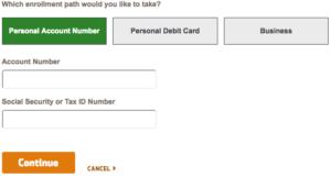 Huntington Bank online banking enrolment