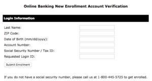 Hills Bank online banking form