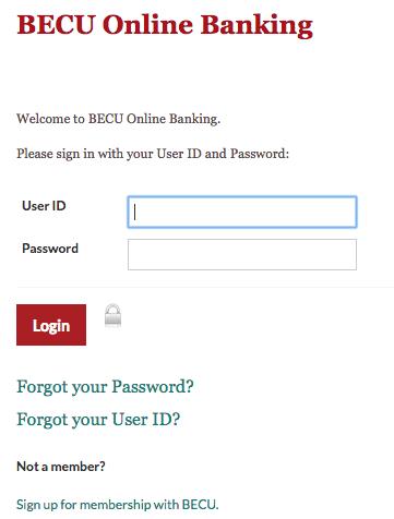 Boeing Employees Credit Union (BECU) Online Banking Login