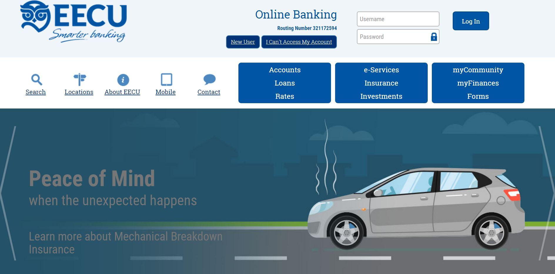 EECU frenso Online Bank login