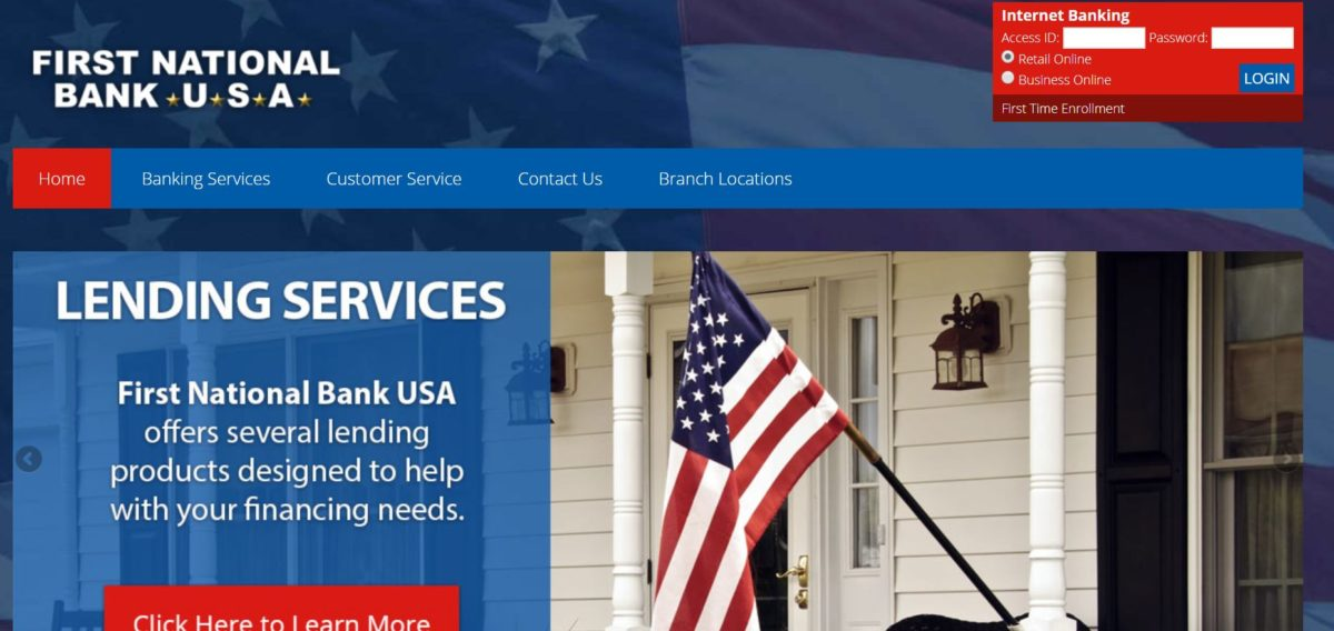 FNB – First National Bank USA : Online Bank Login