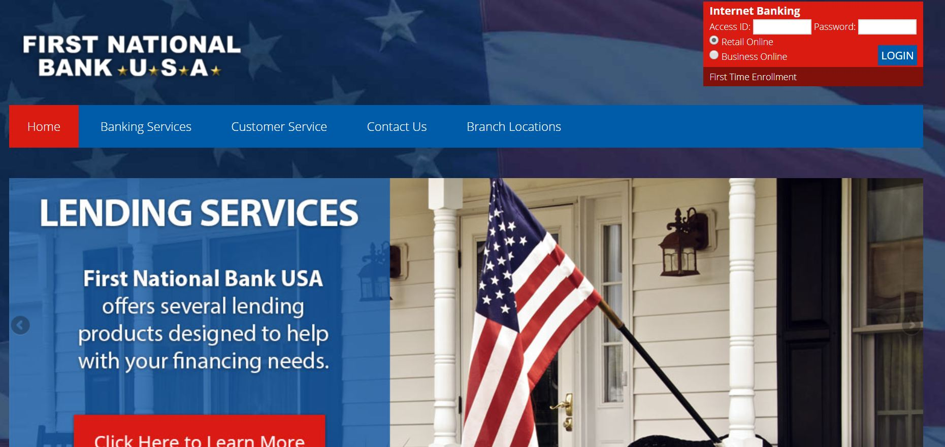 FNB – First National Bank USA : Online Bank Login |