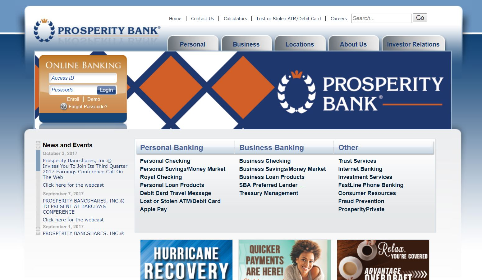 Prosperity Bank Online Banking