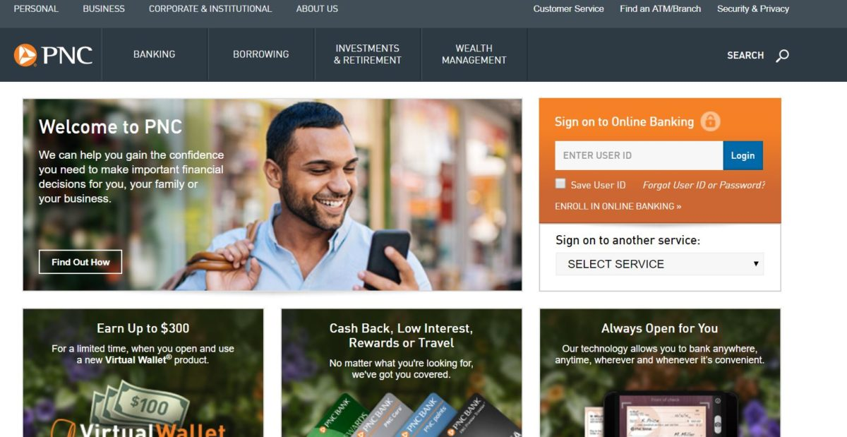 PNC Bank – Online Bank Login