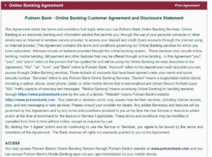 putnam bank online banking