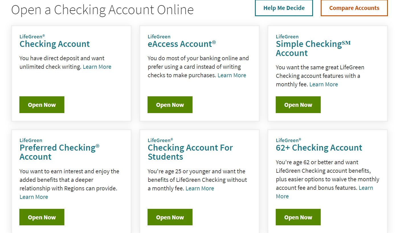 regions bank online bank login