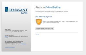 renasant bank online banking