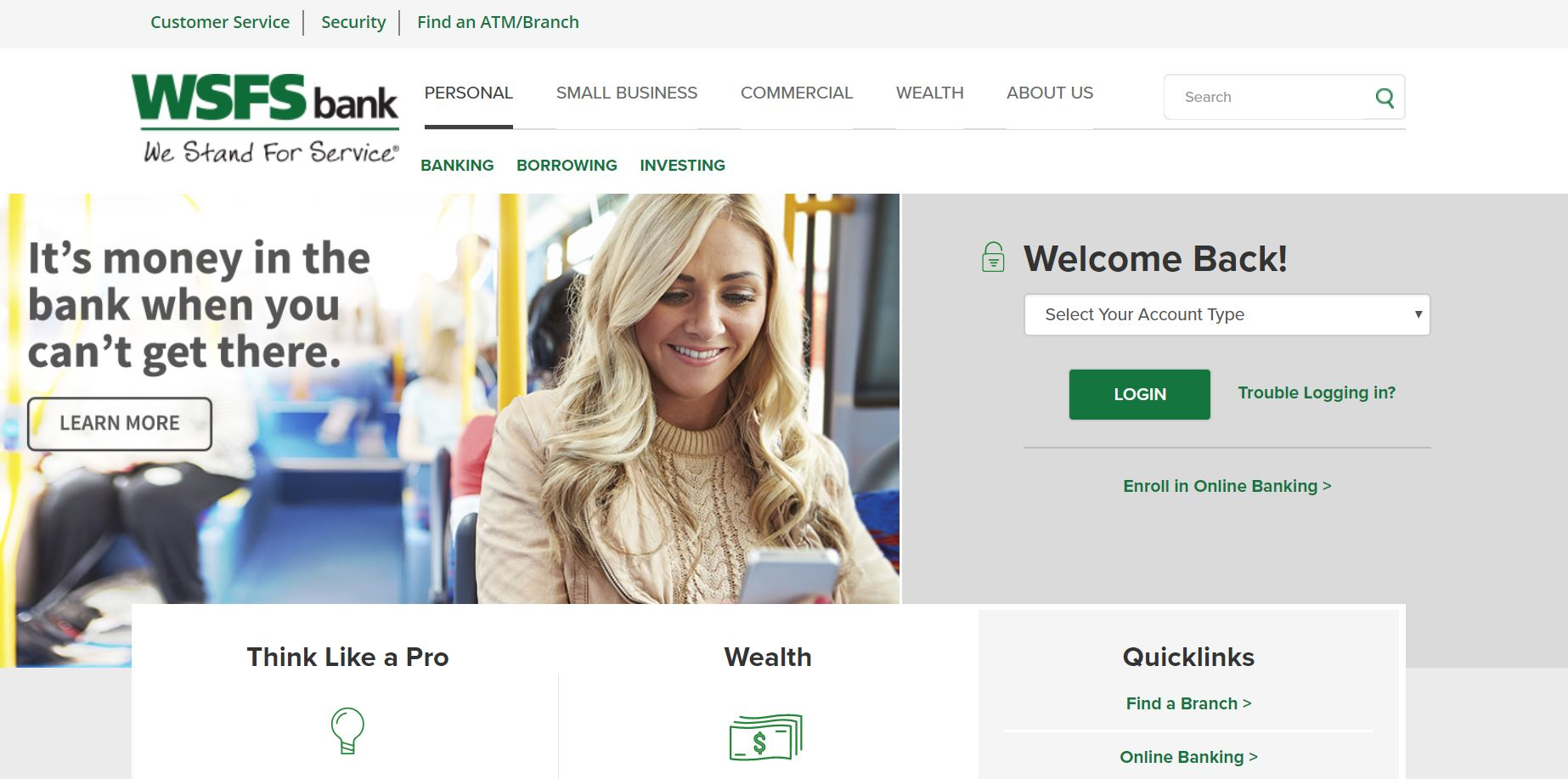wsfs bank online login
