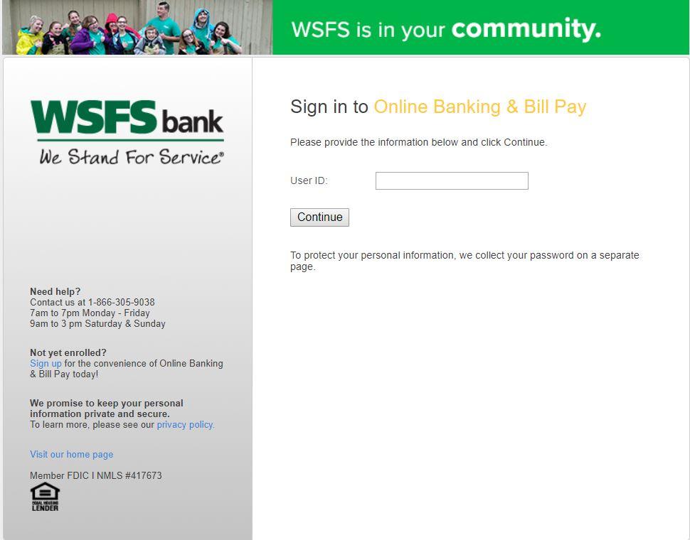 wsfs bank login