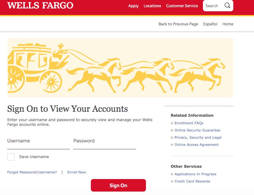 Wells Fargo Banking Login